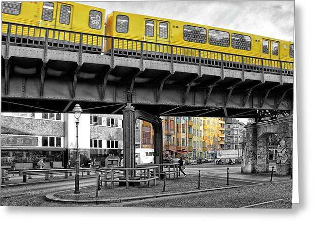 Berlin Impressions II Greeting Card by Joachim G Pinkawa