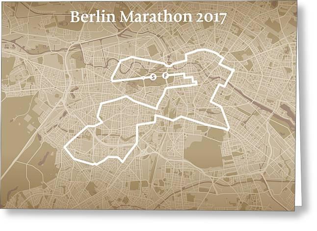 Berlin Marathon #1 Greeting Card
