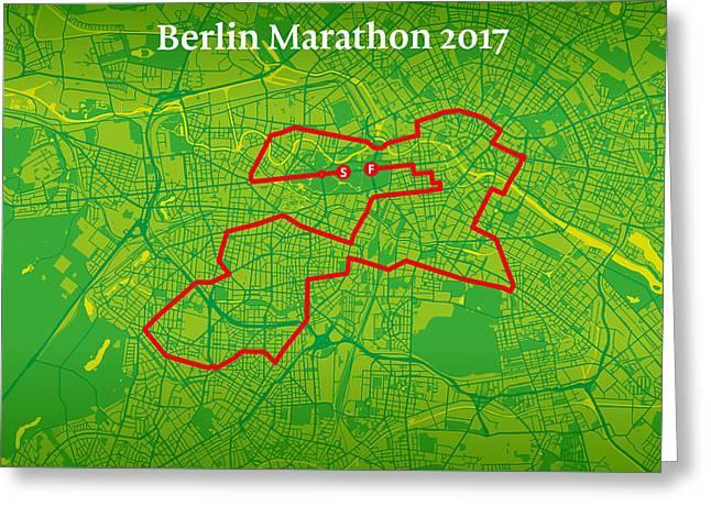 Berlin Marathon #2 Greeting Card