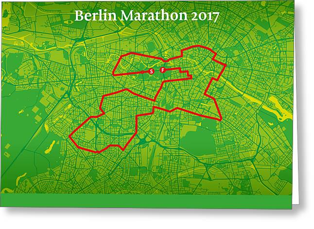 Berlin Marathon #2 Greeting Card by Big City Artwork