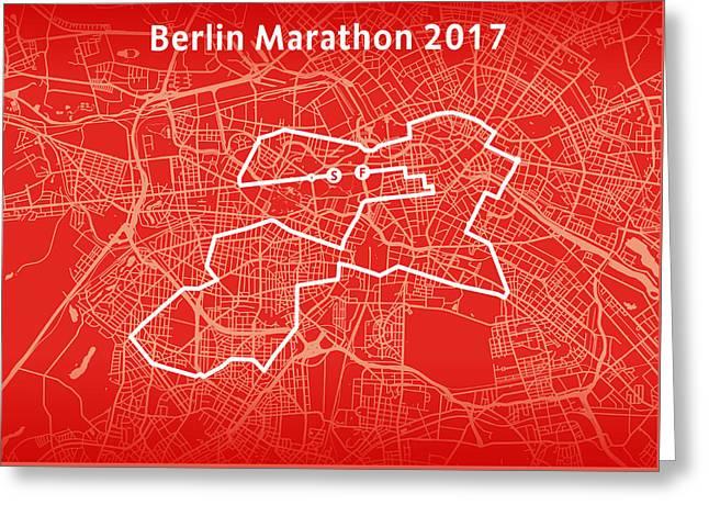 Berlin Marathon Red Greeting Card