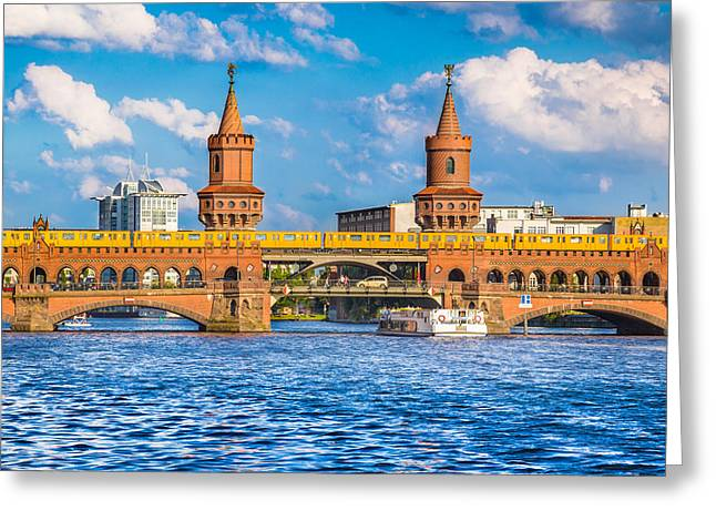Berlin Oberbaum Bridge Greeting Card by JR Photography