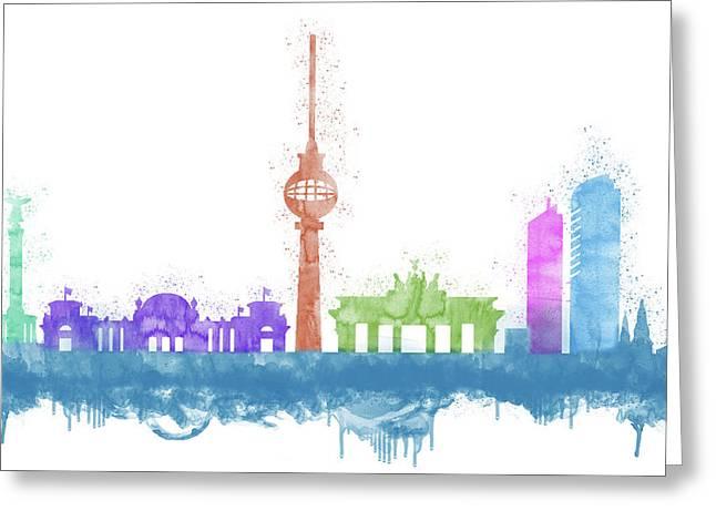 Berlin Skyline Greeting Card