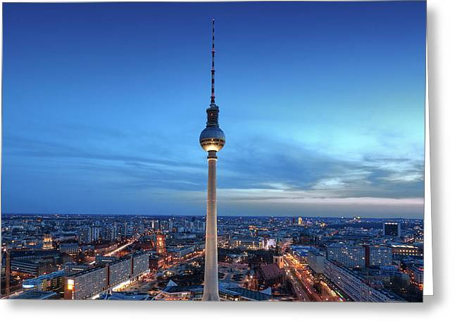 Berlin Television Tower Greeting Card
