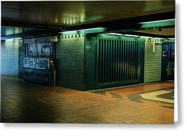 Berlin Underground Station Greeting Card by Pati Photography