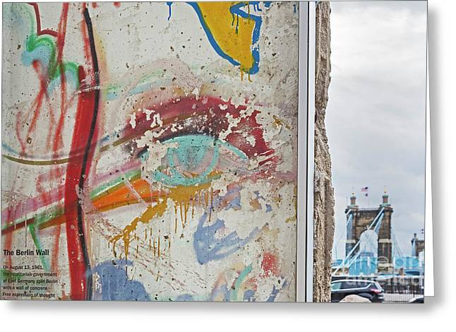 Berlin Wall Greeting Card by Jim West