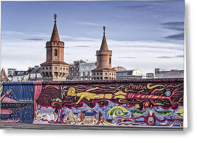 Greeting Card featuring the photograph Berlin Wall by Juergen Held