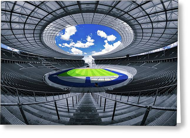 Berlin's Olympic Stadium Greeting Card