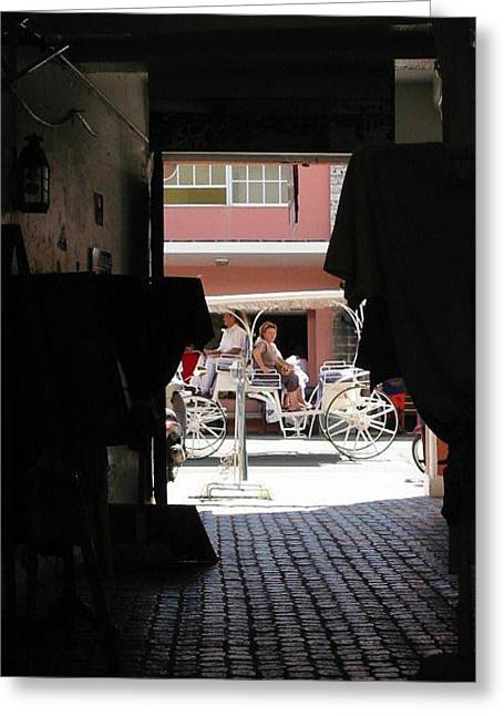 Greeting Card featuring the photograph Bermuda Carriage by Ian  MacDonald