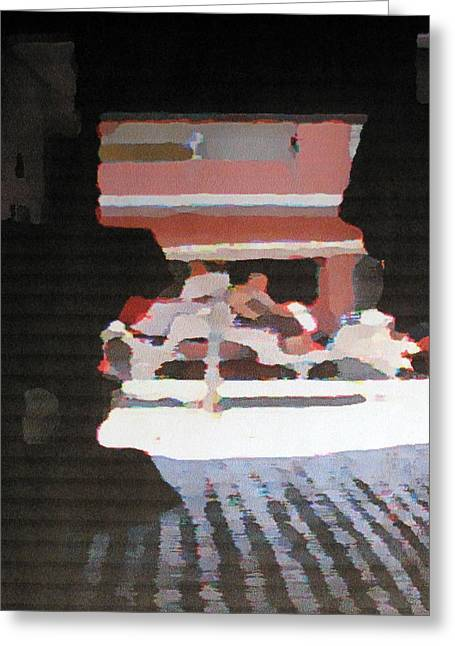 Greeting Card featuring the photograph Bermuda Carriage Impressions by Ian  MacDonald