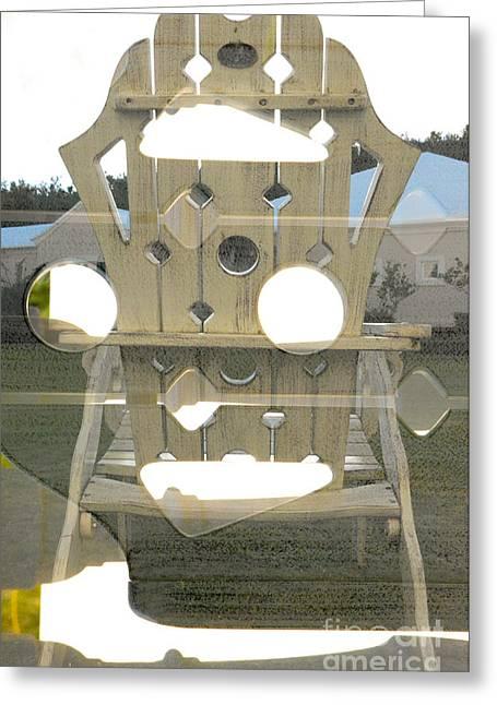 Bermuda Lawn Chair Greeting Card by Thomas Carroll