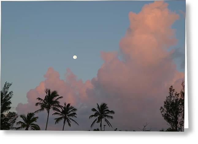 Bermuda Morning Moon Greeting Card