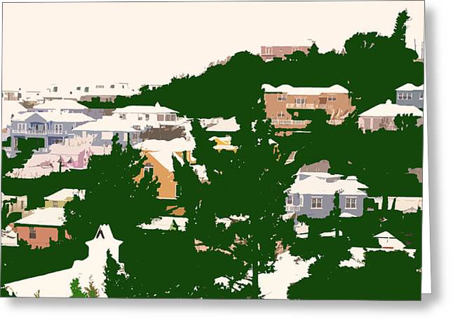 Bermuda Neighborhood Greeting Card by Ian  MacDonald