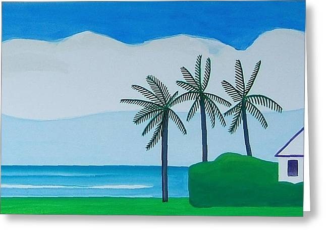 Greeting Card featuring the painting Bermuda Variations  by Dick Sauer