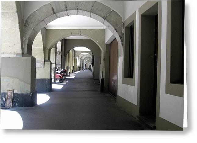 Bern Corridor Iv Greeting Card by David Ritsema