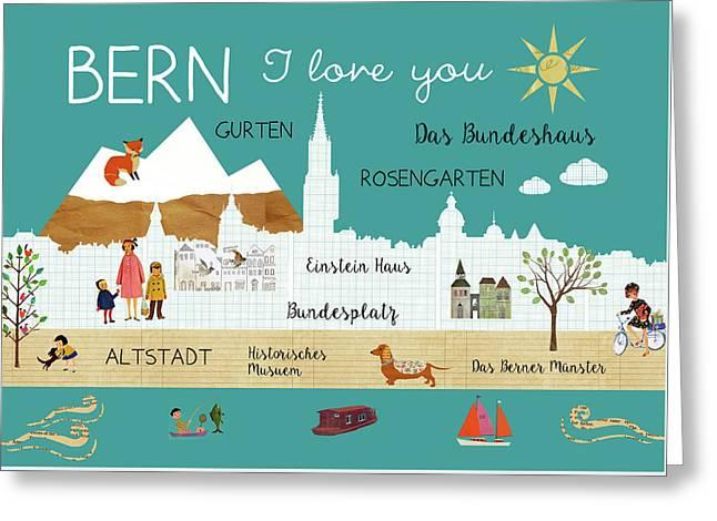 Bern I Love You Greeting Card