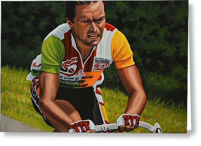 Bernard Hinault Greeting Card by Paul Meijering