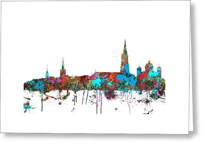 Berne Switzerland Skyline Greeting Card