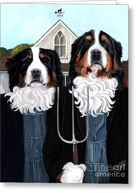 Berner Gothic Greeting Card by Liane Weyers