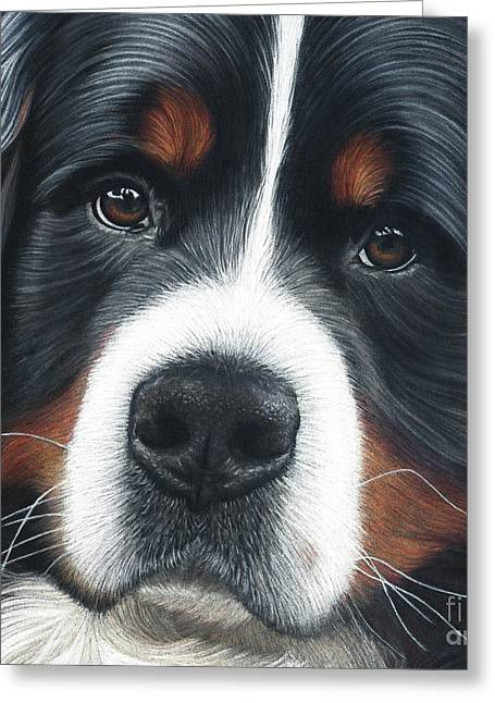 Greeting Card featuring the painting Up Close by Donna Mulley