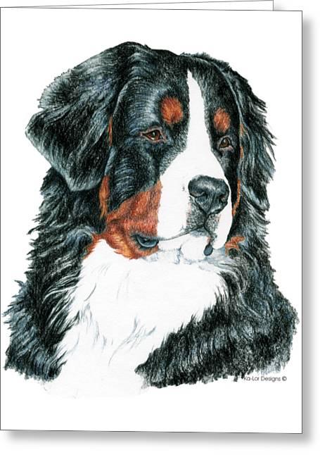 Bernese Mountain Dog Greeting Card by Kathleen Sepulveda