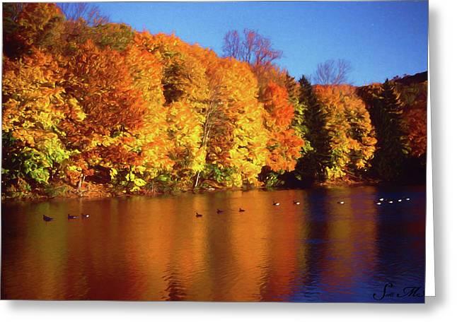 Bernharts Dam Fall 008 Greeting Card by Scott McAllister