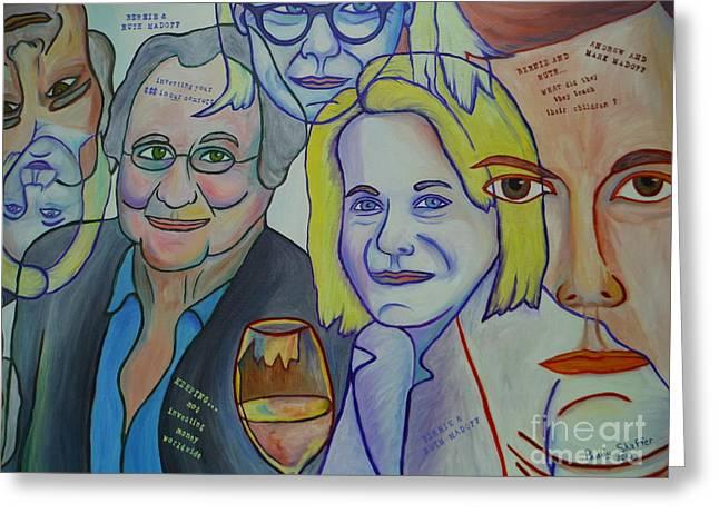 Bernie And Ruth Madoff Greeting Card by Paddy Shaffer