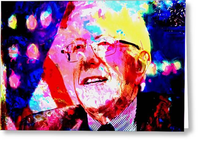 Bernie Sanders Greeting Card by Brian Reaves