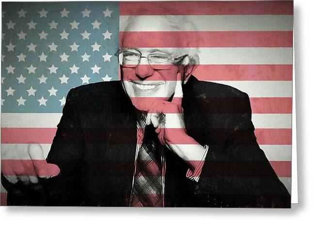 Bernie Sanders Greeting Card by Dan Sproul