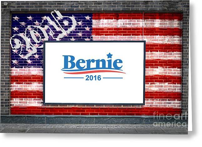 Bernie Sanders For President Greeting Card by Antony McAulay
