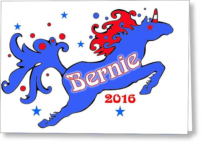 Bernie's Unicorn 2016 Greeting Card