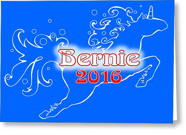 Bernie's Unicorn Option 5 Greeting Card