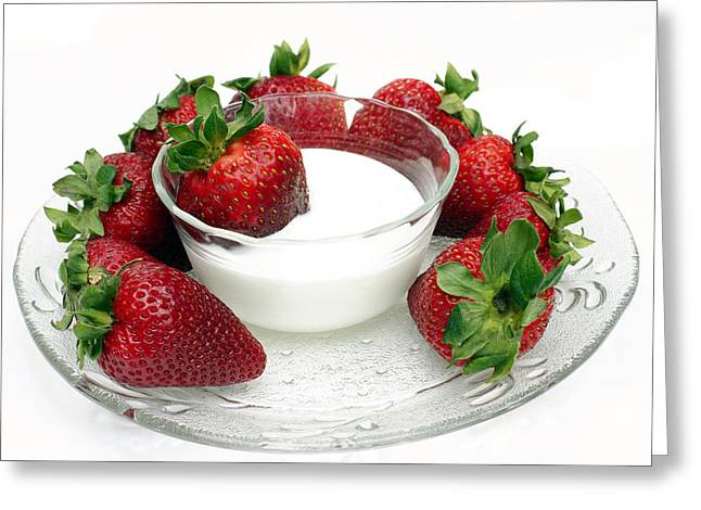 Berries And Cream Greeting Card