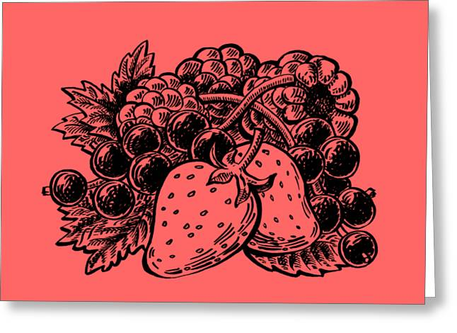 Berries From Forest Greeting Card