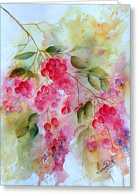 Berries Galore Greeting Card by Lucia Del