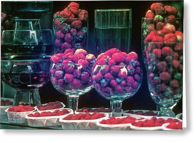 Berries In The Window Greeting Card