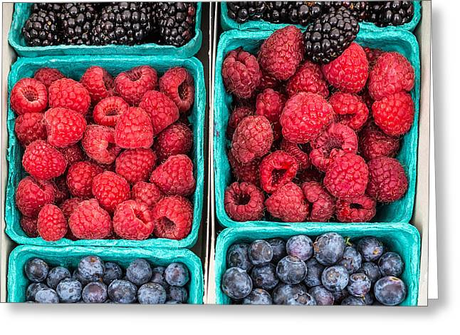 Berry Berry Delicious Greeting Card by Peter Tellone