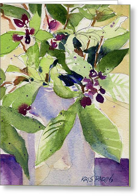 Berry Bouquet Greeting Card by Kris Parins