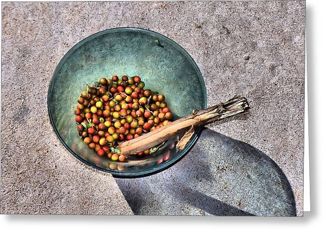 Berry Bowl Greeting Card by Karen M Scovill