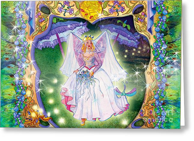Berry Fairy Bride Greeting Card by Teresa Ascone
