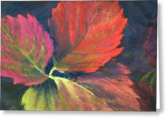 Bright Pastels Greeting Cards - Berry Leaves Greeting Card by Marlene Kingman