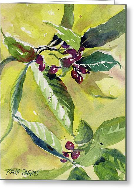 Berry Study Greeting Card by Kris Parins