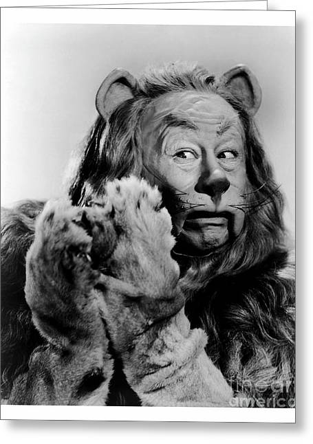 Bert Lahr As The Cowardly Lion In The Wizard Of Oz Greeting Card