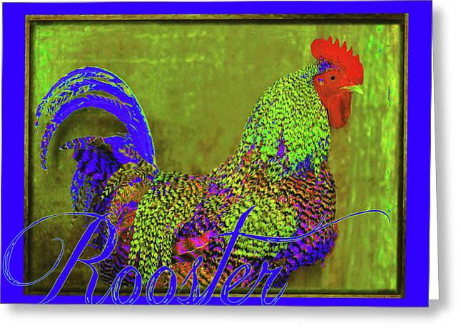 Bert The Rooster Greeting Card