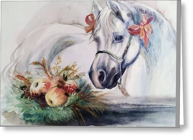 Berthday Of Horse  Greeting Card