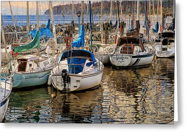 Berthed Greeting Card by Ed Hall
