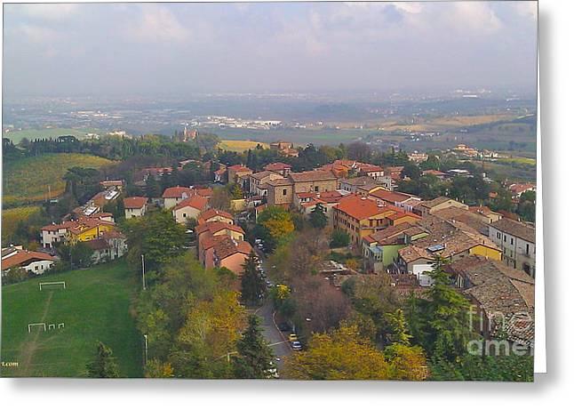 Bertinoro View -romagna Greeting Card by Italian Art