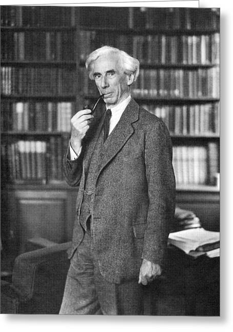 Nobel Prize Laureate Greeting Cards - Bertrand Russell Greeting Card by Granger