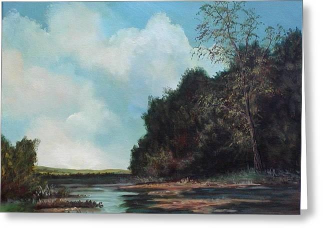 Beside Still Waters Greeting Card by Sharon Steinhaus