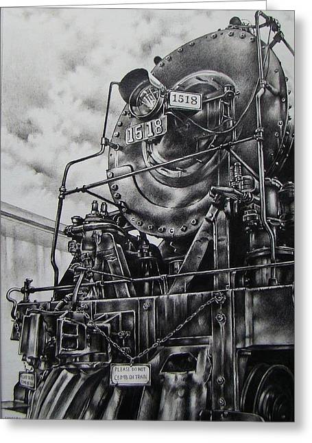 Beside The Floodwall Mikado 1518 Greeting Card by Michael Lee Summers